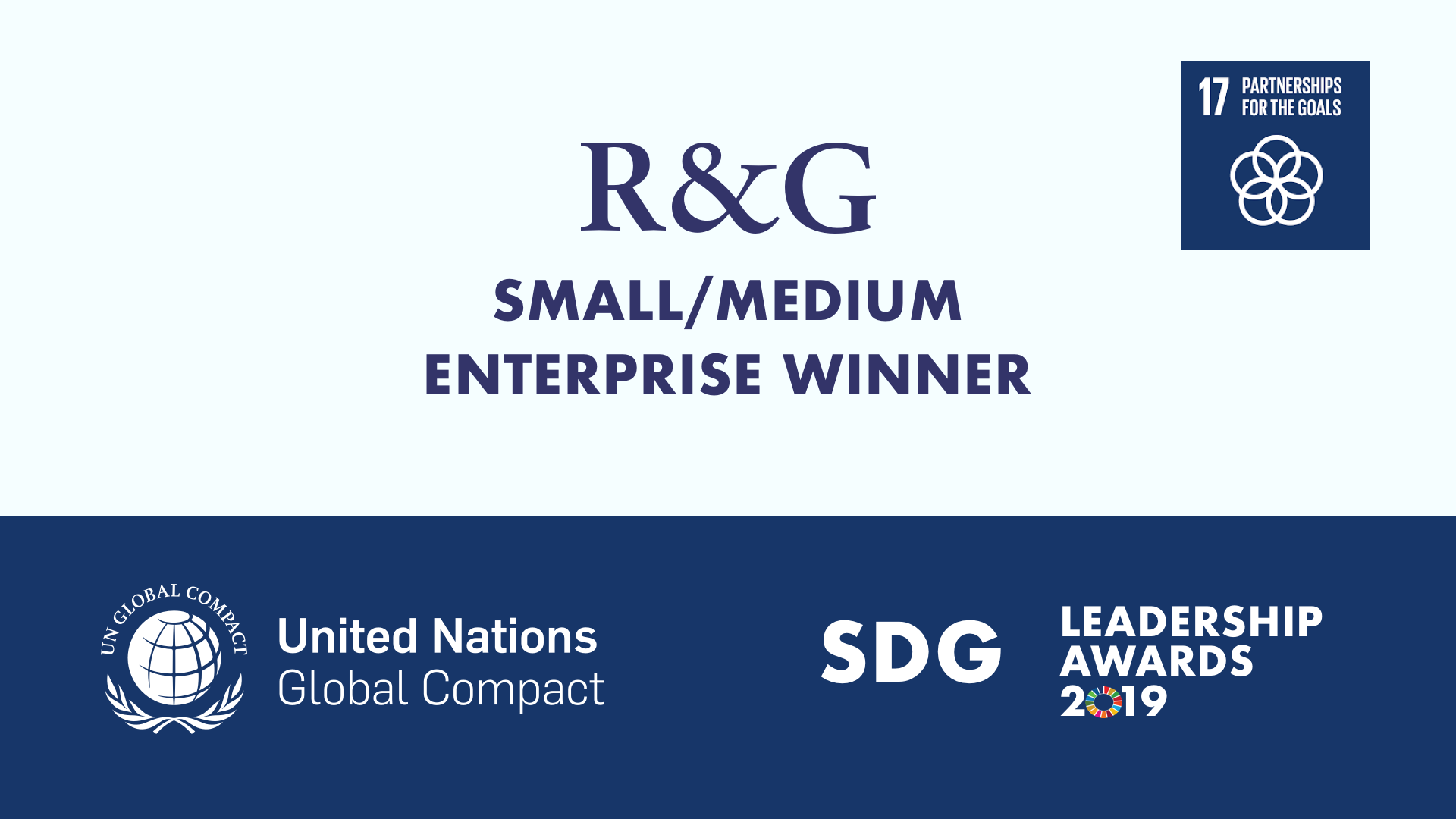 R&G Small/Medium Enterprise Winner